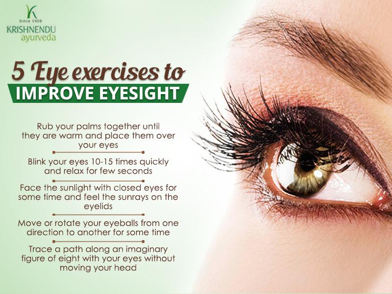 5 Eye exercises to improve eyesight