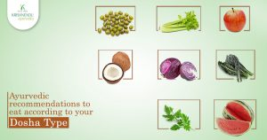Ayurvedic recommendations to eat according to your dosha type